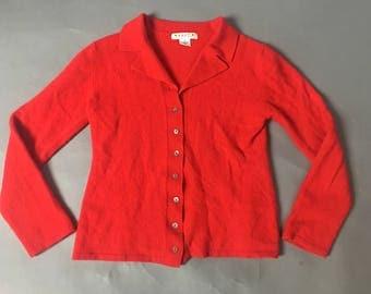 Vintage cardigan / vintage cardigan / vintage sweater / red cardigan / 8075