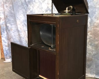 Vintage record player cabinet | Etsy