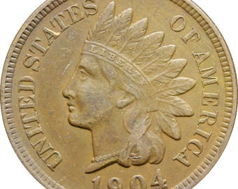 1904 One Cent United States Indian Head Coin