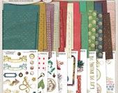 Alice In Wonderland, Alice, Printables, Junk Journal, Journal Kit, Scrapbooking, Mad Hatter Tea Party, Gold Foil Pattern, Collage Sheets