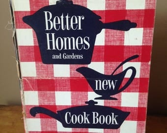 Vintage 1953 Better Homes and Gardens New Cookbook