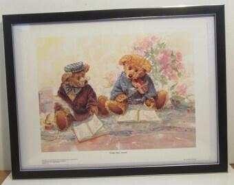 "Bradford Exchange Art Print Lithograph Framed - Teddy Bear Sonata : by Stewart Sherwood 11"" x 14"" 1997"