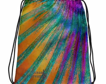 Parrotfish fin Drawstring bag