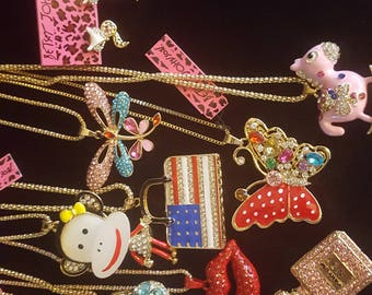 Lot of BETSEY JOHNSON Jewelry (New with Tags) for Resale or Repurposing