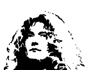 Robert Plant hand-drawn drawing / painting