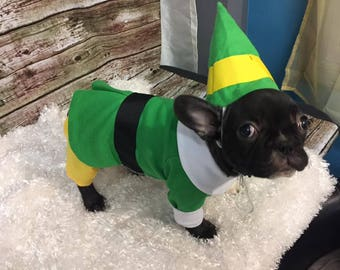 Bud the Elf, Bud the Elf dog outfit, Christmas dog outfit