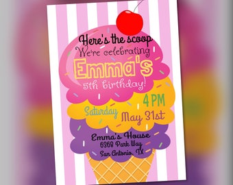 Ice Cream Party Invitation
