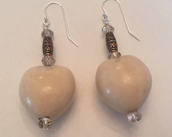Creamy Kukui Nut Drop Earrings