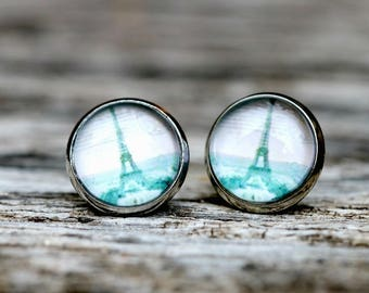 Eiffel Tower Earrings | Paris Lover Vintage Style Eiffel Tower Earrings Retro Stud Earrings | I Love Paris | Paris Eiffel Tower Earrings