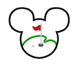 Character Inspired Golf Game Ears Embroidery Applique Design