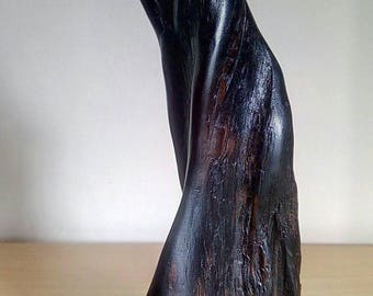 Bog oak abstract wood sculpture