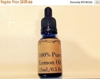 LARGEST CLEARANCE 60% OFF 100 Percent Pure Lemon Essential Oil, 15 mL/0.5 oz with Dropper
