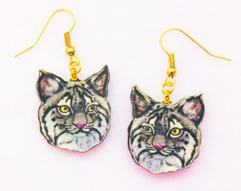 Bobcat Kitten Earrings