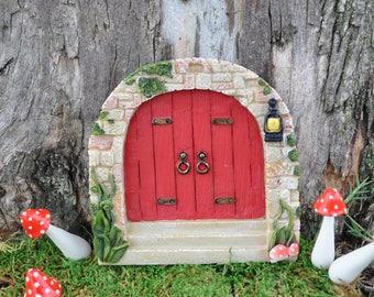 Cobblestone Red Fairy Door