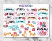 Birthday Countdown Stickers -177