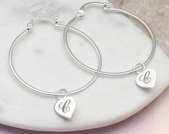 Personalised Sterling Silver Hoop Earrings