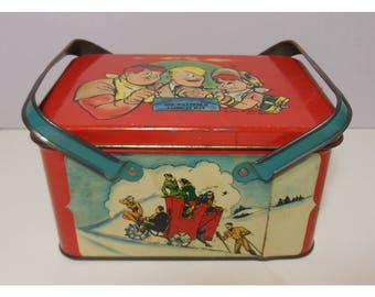 Vintage 1948 Joe Palooka Lunchbox