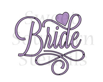 Fancy Bride Cookie Stencil