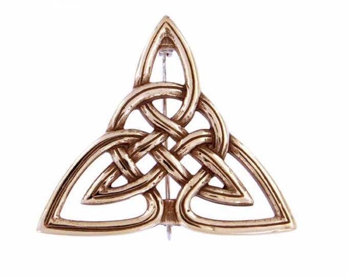 Triangular Brooch Celtic knot - Made and Design in UK- Ideal Gifts For Mom -Anniversary- Birthday