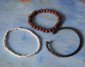 Random Set Beaded Bracelet Bangles