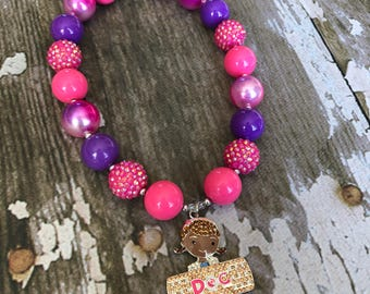Doc McStuffins Chunky Necklace - Mickey Bubblegum Necklace - Kids Disney Jr Necklace - Disney Bubblegum Necklace - Doc McStuffins Necklace