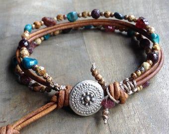 Bohemian bracelet boho chic bracelet rustic bracelet gemstone bracelet rustic jewelry womens jewelry boho chic jewelry bohemian jewelry