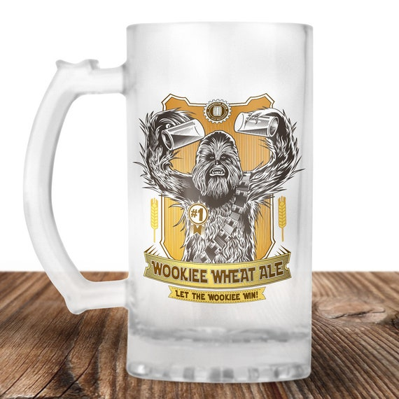 Chewbacca Beer Stein - Wookie Beer Mug - Chewbacca Gift - Wookie Wheat Ale-  Craft Beer Mug -Beer Mug -Beer Lover Gift -Beer Lover Gift