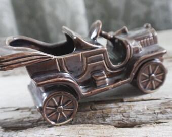 Kitschy brown Jalopy Planter, ceramic car planter, succulent planter, gift for him, husband gift, boyfriend gift, automobilia gift