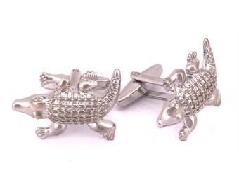 Crocodile Cufflinks, Alligator Cufflinks