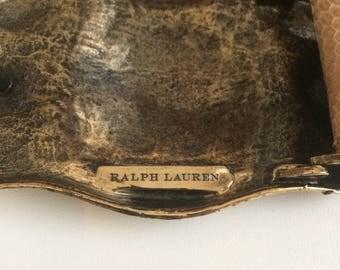 Ralph Lauren, belt belt leather lizard.