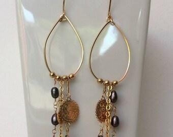 handmade goldfilled earrings