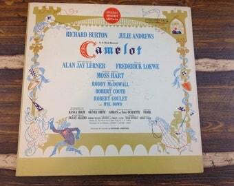 Camelot Musical Richard Burton Julie Andrews Original Broadway Cast Vintage Vinyl Record LP 1962