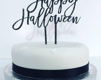 Happy Halloween Cake Topper