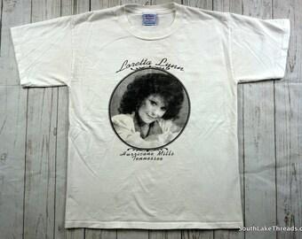 Vintage Loretta Lynn Shirt, Hurricane Mills Tennessee Vintage T-Shirt 80s 90s Coal Miners Daughter, Vintage Music T-Shirt