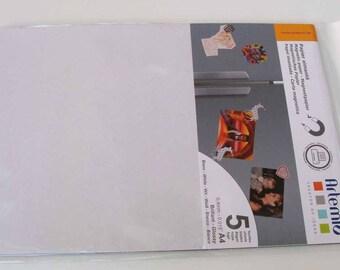 5 feuilles papier aimanté A4 Blanc Brillant découpable imprimable