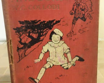 Pinocchio by C. Collodi(Carlo Lorenzini) Illustrations by Maria Kirk. J. B. Lippincott company. 1916.