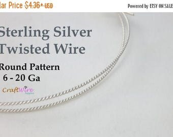 5% OFF 925 Sterling Silver Twisted Wire, 6 8 10 12 14 16 18 20 Gauge, Round Pattern, Dead Soft, 6 in, 1 5 10 Feet, Jewelry Craft Twist