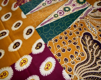 Vlisco African Wax Print, by the Half Yard