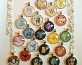 Pokemon Charm Necklace - Multiple Varieties