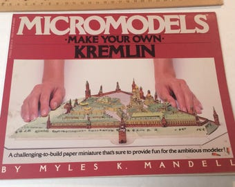 MicroModels  Make Your Own Kremlin By Myles L. Mandell 1983 Perigee Books First Edition Paper Model Cut Out Books