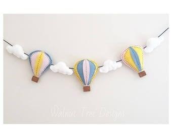 Felt Hot Air Balloon Garland