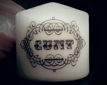 Cunt Small Pillar Candle