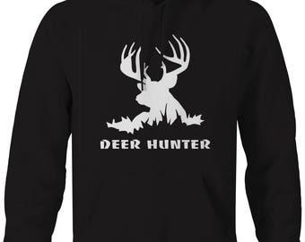 Deer Hunter Big Buck in the Shadows Hooded Sweatshirt- A113
