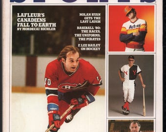 Vintage Magazine - Inside Sports : April 1980 Guy Lafleur EX+ White Pages High Grade Unread No Label