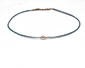 SOPHIA NECKLACE* dainty beaded choker necklace