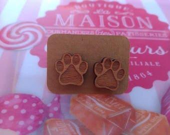 Dog cat paw Stud Earrings