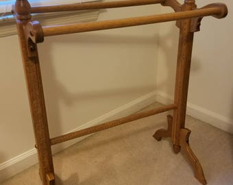 Linen rack   Etsy : antique quilt rack - Adamdwight.com