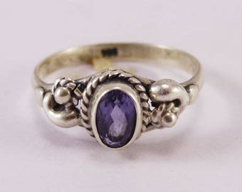 Iolite 925 Sterling Silver Ring Handmade Jewelry