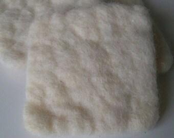 Organic natural sponge felted