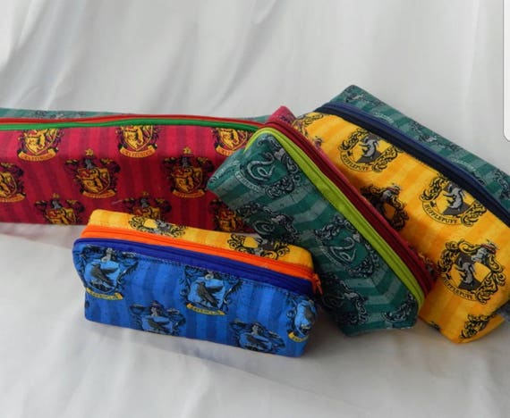 Double zipper toiletry or makeup bag and pencil bag